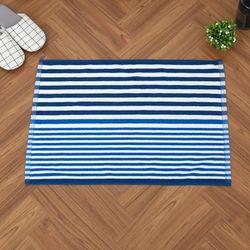 스트라이프 양면 타올매트 45*65 블루