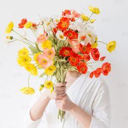 고급 양귀비 꽃 조화 5color