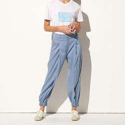 LINEN JOGGER PANTS BLUE