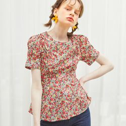 Floral Ruffle Blouse Ivory