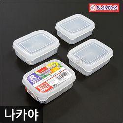 일본 나카야 미니 사각 밀폐용기 R (4P세트)