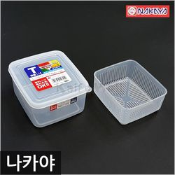 일본 나카야 사각 밀폐용기 T (두부용기)