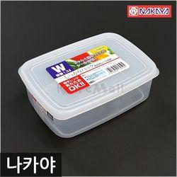 일본 나카야 사각 밀폐용기 W 냉장고정리용기 신선밀폐용기
