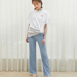 Wrinkle Banding Pants Blue