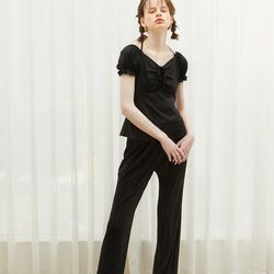 Wrinkle Banding Pants Black
