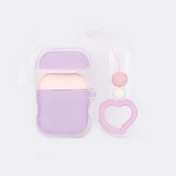 실리콘 에어팟 케이스+헤 +키링 세트 바이올렛(AGEC0208SAVV)