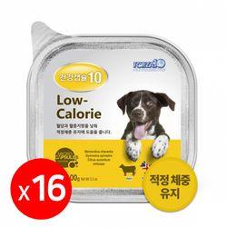 건강캡슐10 저칼로리 lowcalorie 강아지주식캔 1box 16개