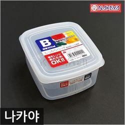 일본 나카야 사각 밀폐용기 B 반찬통 냉장고정리용기