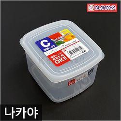일본 나카야 사각 밀폐용기 C 반찬용기 신선밀폐용기