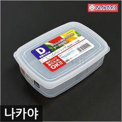 일본 나카야 사각 밀폐용기 D 냉장고보관용기 신선밀폐용기