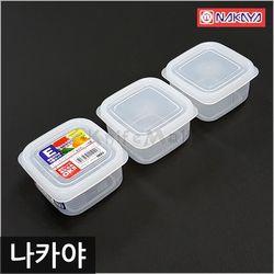 일본 나카야 사각 밀폐용기 E (3P세트) 냉장고보관용기