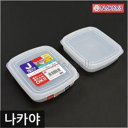 일본 나카야 사각 밀폐용기 J (2P세트) 냉장고보관용기 반잔통