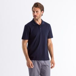 Living Shirts Short Sleeve Poloshirt deep navy