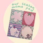 our season memo pad 메모지