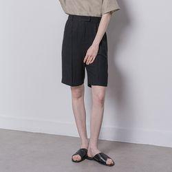 W13 linen setup slorts black