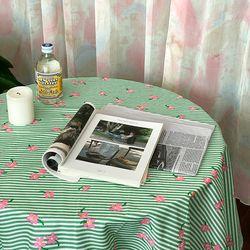 온더플라워씨리얼그린 식탁보 테이블보 170x140cm