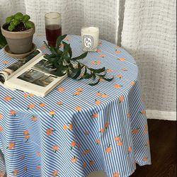 온더플라워씨리얼블루 식탁보 테이블보 170x140cm