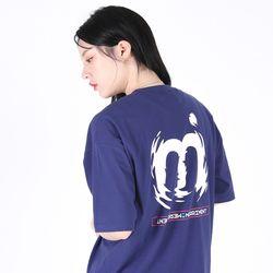 (UNISEX)M Twist Color T-shirt(BLUE PURPLE)