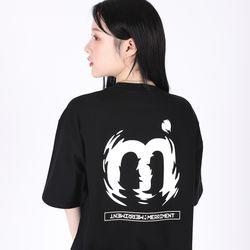 (UNISEX)M Twist Color T-shirt(BLACK)