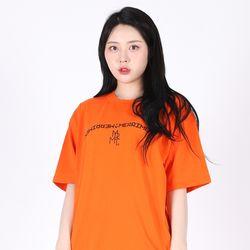(UNISEX)Arch Lettering T-shirt(ORANGE)