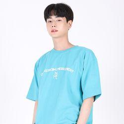 (UNISEX)Arch Lettering T-shirt(AQUA)