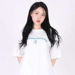 (UNISEX)Arch Lettering T-shirt(WHITE)