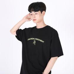 (UNISEX)Arch Lettering T-shirt(BLACK)
