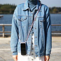 핸드폰 목걸이 케이스 젤하드 투명 - 갤럭시 N9