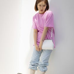 Olsen frame mini bag (White)