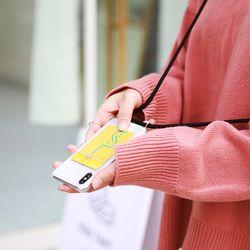 핸드폰 목걸이 케이스 포켓카드케이스 - 아이폰 SE2 2020