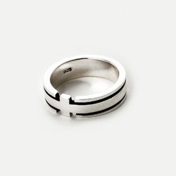 SVR-S608 Cross Duging Ring (Silver 925)