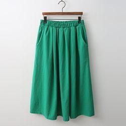 Linen Cotton Full Long Skirt