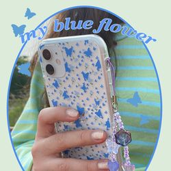 my blue flower (clear) 아이폰케이스