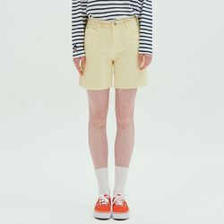 DYEINGN SHORTS-YELLOW