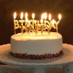 생일캔들 HAPPY BIRTHDAY 2색 [색상선택]