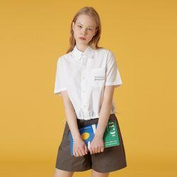 Pocket tilde logo shirt-white