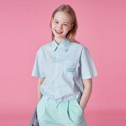 Pocket tilde logo shirt-mint