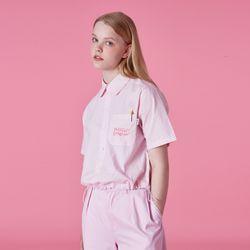 Pocket tilde logo shirt-pink