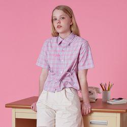 String pocket check shirt-pink