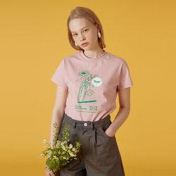 Flower vase tshirt-pink