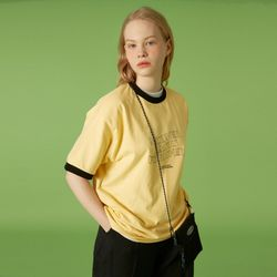 NLF layout ringer tee-yellow