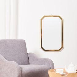리아 메탈 팔각 거울 400