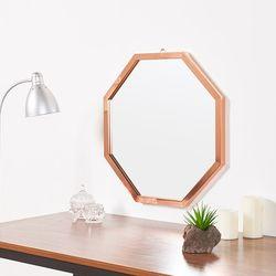리아 메탈 정팔각 거울 630
