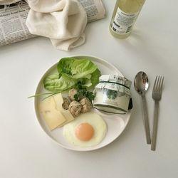 헤이데이 라운드 식판세트 크림화이트 (혼밥 브런치 다이어트용)