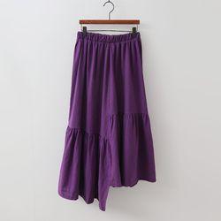 Linen Cotton Unbal Long Skirt