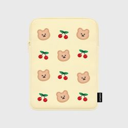 Dot cherry bear-ivory-ipad pouch(아이패드 파우치)