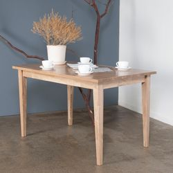 호칸 원목 식탁 일자사선 800x1500