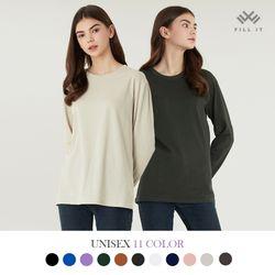 시그니처 라운드 긴팔 티셔츠