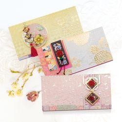 꽃망울조각보봉투 FB225-456 (3종)