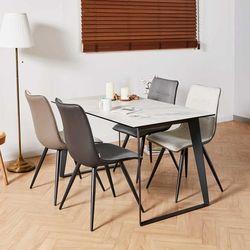 디센제르마노 4인 세라믹식탁 뉴더블사이드 의자 세트